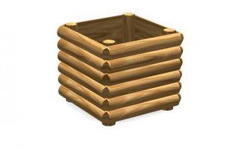 Kosz na śmieci drewniany