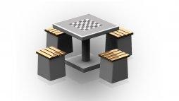 Stół do gry Szachów z czterema siedziskami